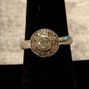 """Jewelry - Sterling w czs round ring. Size 7 1/2"""""""